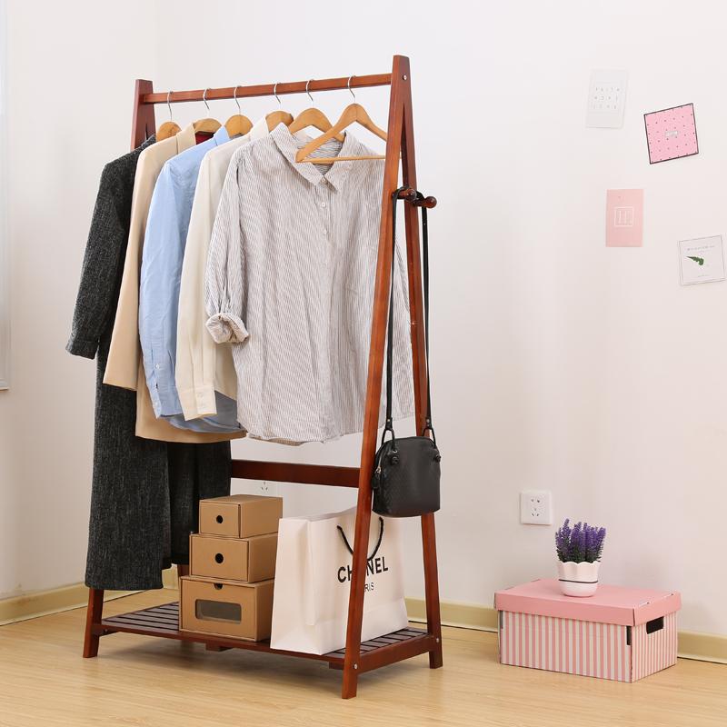 Дерево вешалка этаж треугольник стеллажи творческий деревянный стеллажи простой весить одежду офис комната одежда полка