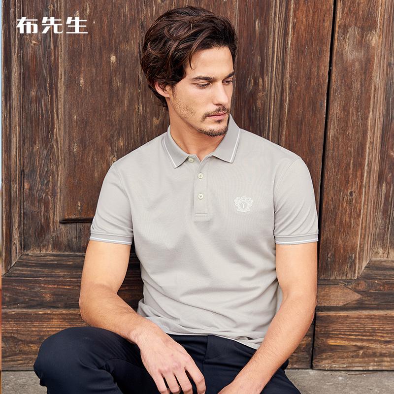 布先生短袖polo衫简约休闲全棉t恤