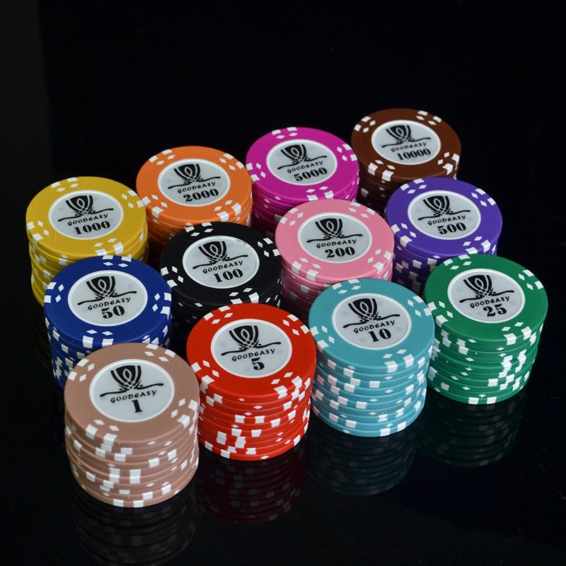 43mm Macau Texas Holdem Poker Baccarat Stud Mahjong Roulette Câu lạc bộ trò chơi Chip - Các lớp học Mạt chược / Cờ vua / giáo dục