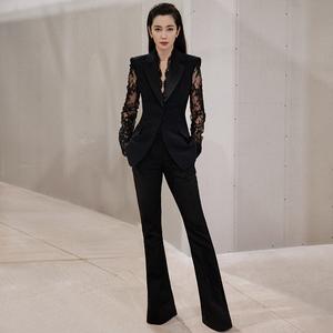 女神范气质套装OL职业显瘦西服外套修身长裤洋气两件套春2021新款