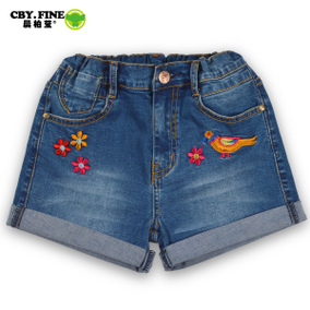 2016新款女童短裤儿童全纯棉裤子