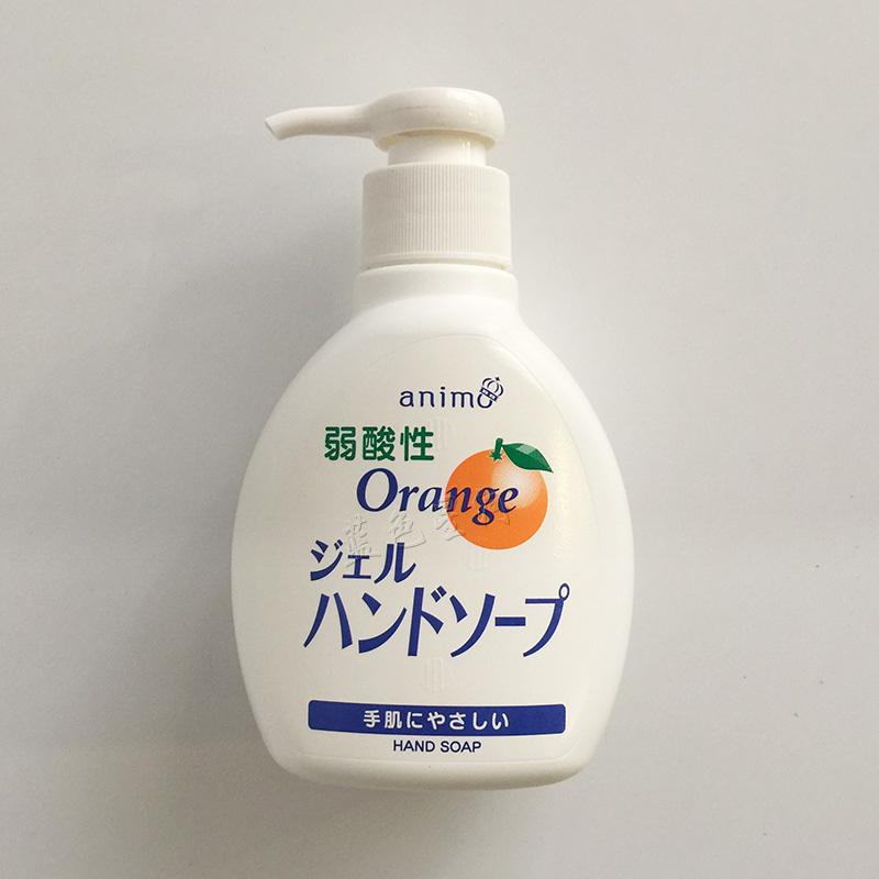 Иморт из японии EORIA мойте руки жидкость слабый кислотность оранжевый вкус увлажняющий гель мойте руки бутылированный наряд 200ml