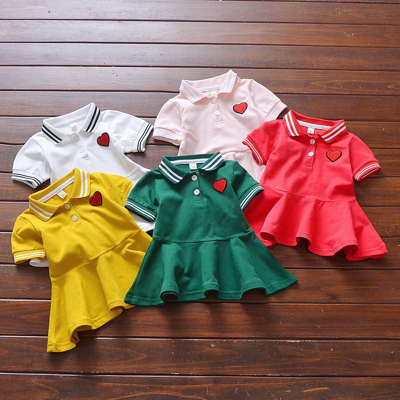 女宝宝短袖连衣裙夏装新款0-1-2-3-4岁婴儿连衣裙女童裙子2019