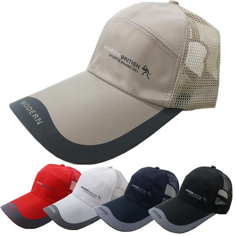 帽子男士棒球帽夏天遮陽防曬帽太陽帽鴨舌帽男夏季釣魚網帽戶外女