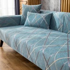 北欧简约雪尼尔沙发垫四季通用防滑皮全包沙发套罩沙发靠背巾盖布