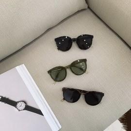韩国百搭潮牌眼镜男复古时髦大框圆形大脸墨镜气质偏光太阳镜女潮图片