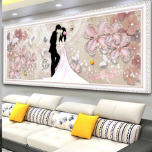 Diamond Painting Marriage 2019 Full Diamond Living Room Lovers Spot Diamond Embroidery 2018 New 5D Masonry Painting