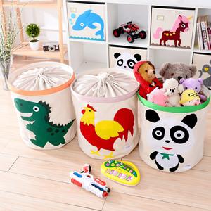 特大号儿童玩具收纳箱可水洗收纳桶带盖布艺卡通玩具收纳筐储物箱