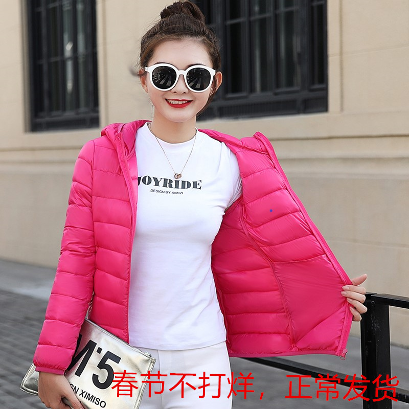 Autumn and winter new lightweight cotton padded jacket womens short slim womens down cotton padded jacket simple and versatile