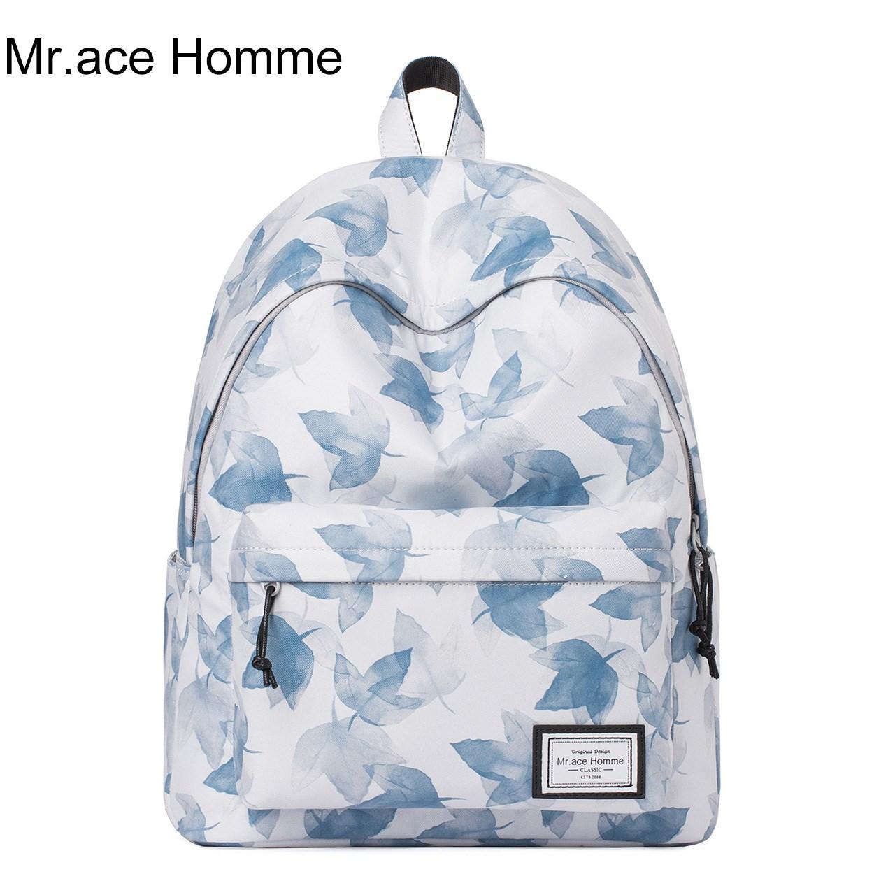 可爱简约Mr.ace Homme背包双肩包学生时尚新款书包大容量诚信家居