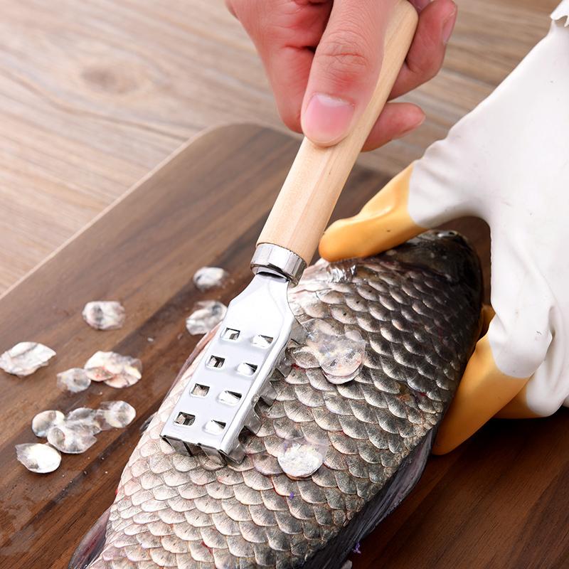 日本ECHO刮鱼鳞器 家用去鱼鳞工具杀鱼打鱼鳞刮刀 安全鱼刷刀工具