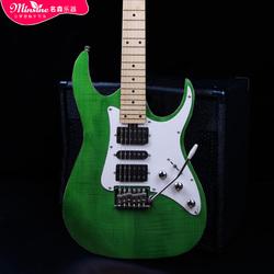 名森Minsine正品虎紋電吉他小雙搖電吉它可配音箱效果器限區包郵