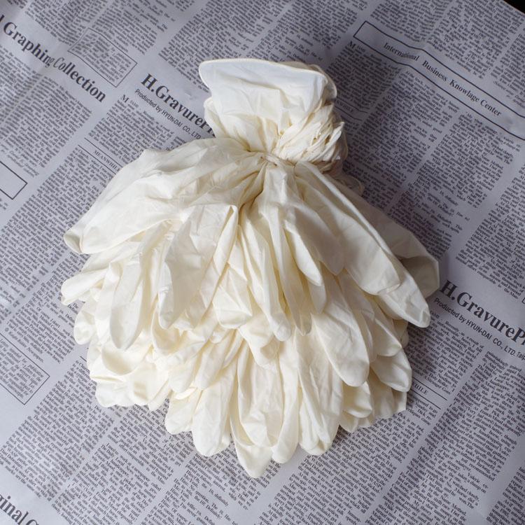 一次性乳胶橡胶手套 无粉款丁腈劳保胶皮家务洗碗洗衣丁晴PVC手套