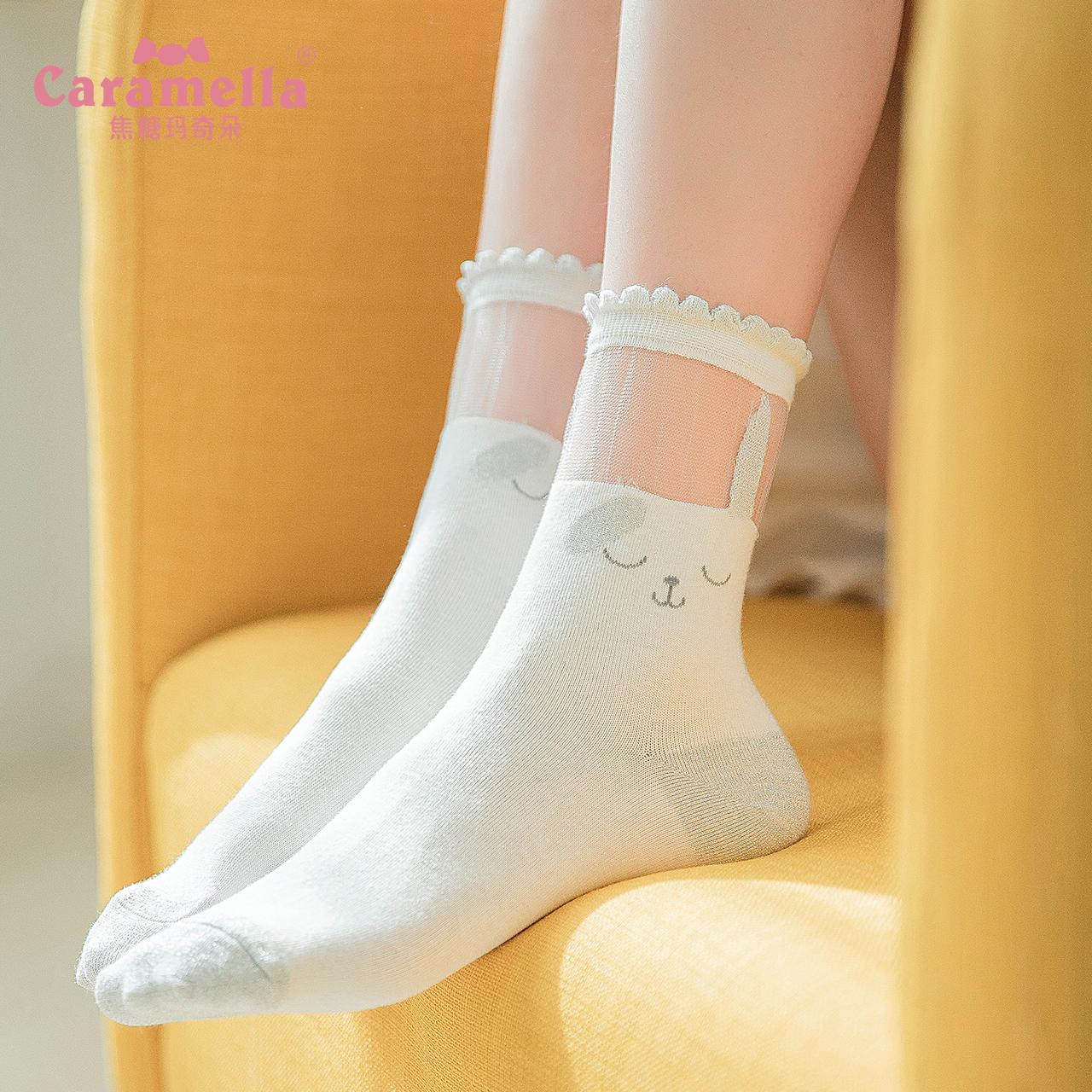 袜子女短袜浅口春夏玻璃丝袜女中筒薄款短女士水晶袜船袜可爱日系