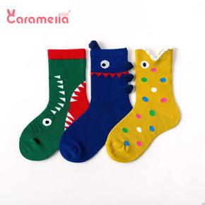 caramella儿童袜子秋冬季纯棉袜男女童宝宝袜子新生儿中筒婴儿袜