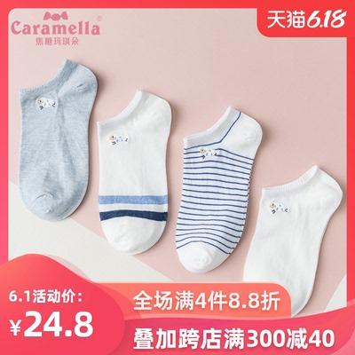 CARAMELLA可爱日系袜子女短袜浅口棉ins潮春夏天季隐形船薄款袜子