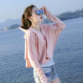 冰丝防晒衣女2020新款长袖防紫外线透气骑车防晒服夏季薄款短外套