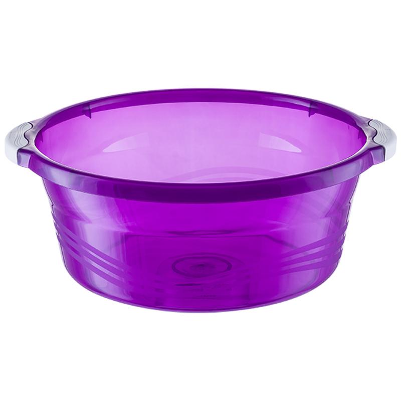 茶花塑料洗脸盆 浴室半透明洗手水盆婴儿宝宝儿童洗衣盆大中小号