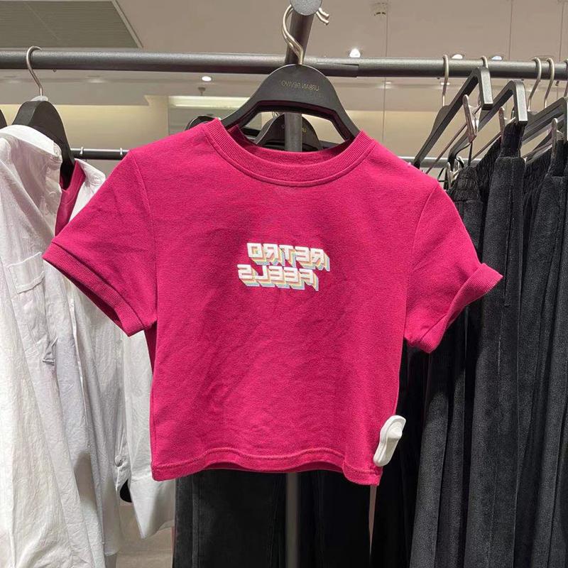 纯棉趣味印花小众短袖T恤女装夏季港味宽松设计感短款辣妹上衣ins