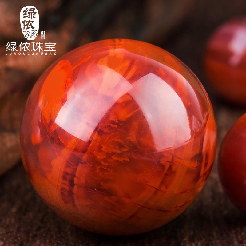 天然南红玛瑙散珠圆珠子柿子红凉山手串金刚星月菩提佛珠隔珠配饰