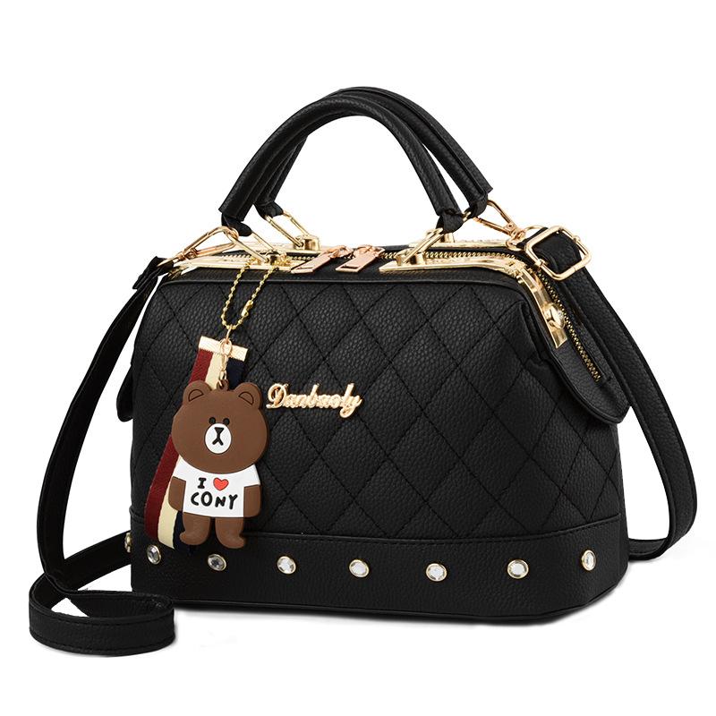 百搭时尚女包单肩包韩版潮流小方包女斜挎小包菱格女式包包手提包