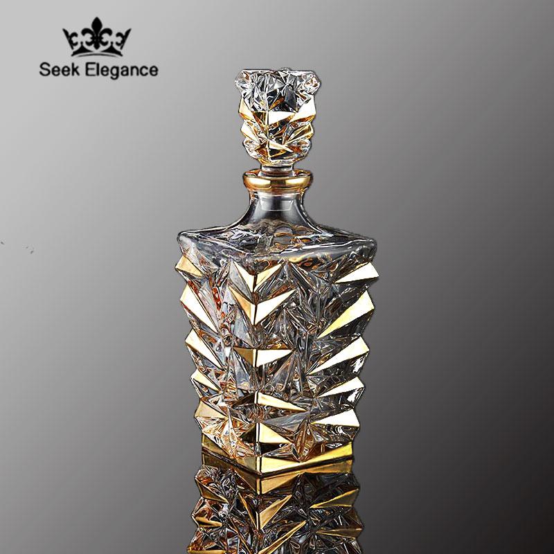欧式水晶玻璃酒樽描金创意醒酒器