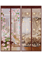 Velcro anti mosquito curtain high-grade self-priming magnetic summer screen door household bedroom anti mosquito partition curtain non perforated