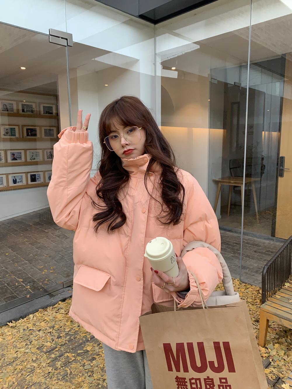 最小的海 自制棉衣棉服2020年新款女韩版外套冬装短款棉袄面包服