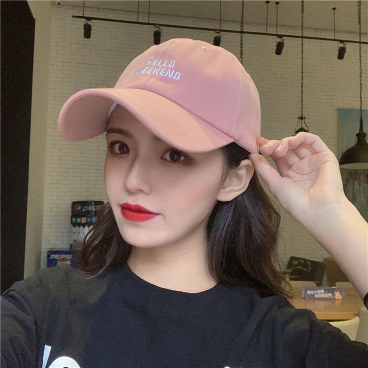 ulzzang小清新字母粉色帽子女夏天学生韩版可爱百搭鸭舌帽棒球帽图片