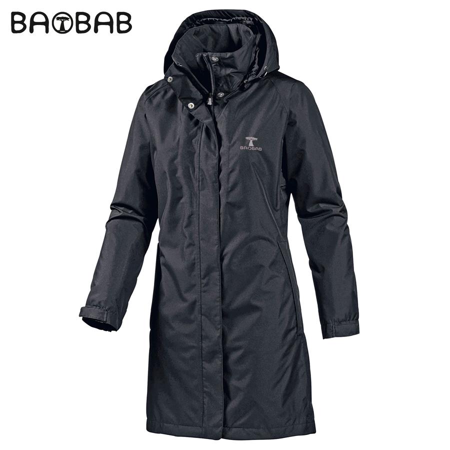 女士长款单层冲锋衣防风防水透气修身户外风衣BAOBAB