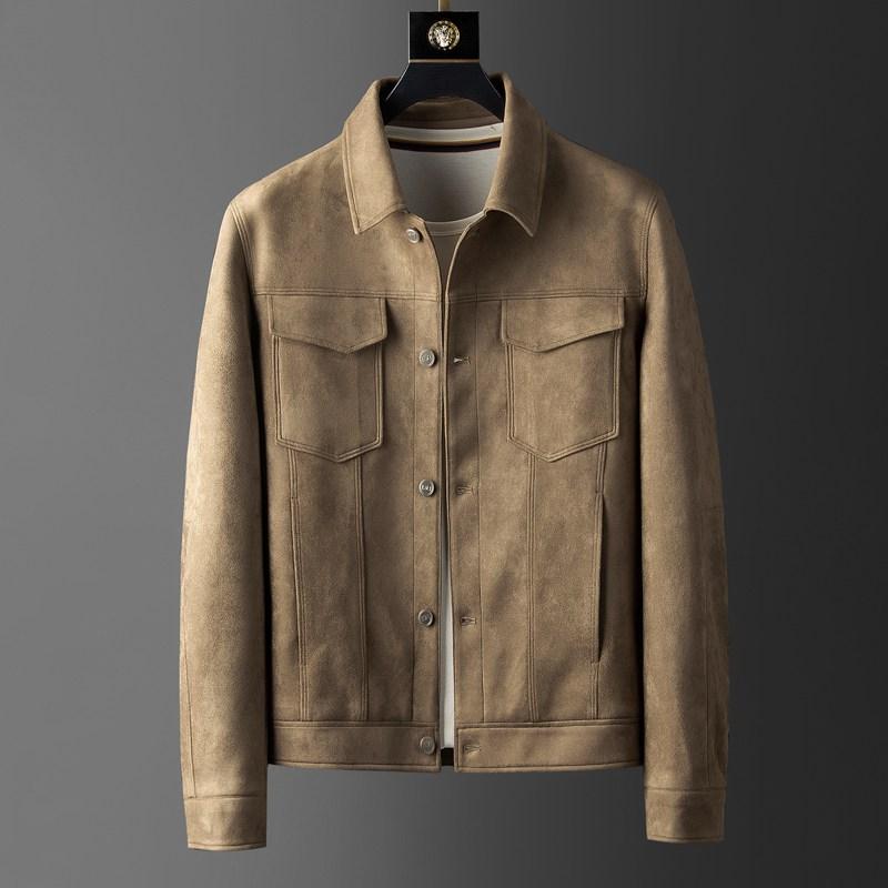 舒适弹力麂皮绒夹克