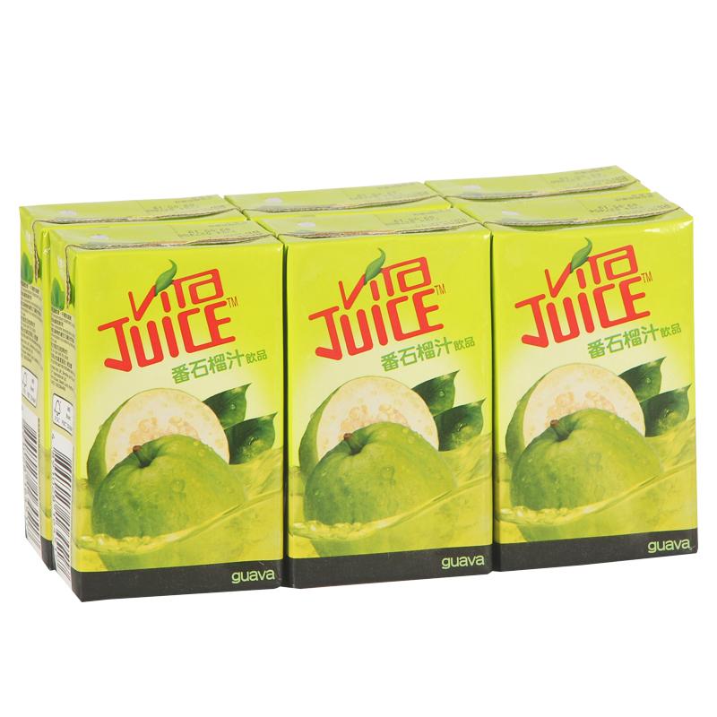 香港�M口�料 �S他Vita Juice 番石榴果汁�料香港版250ml*6盒