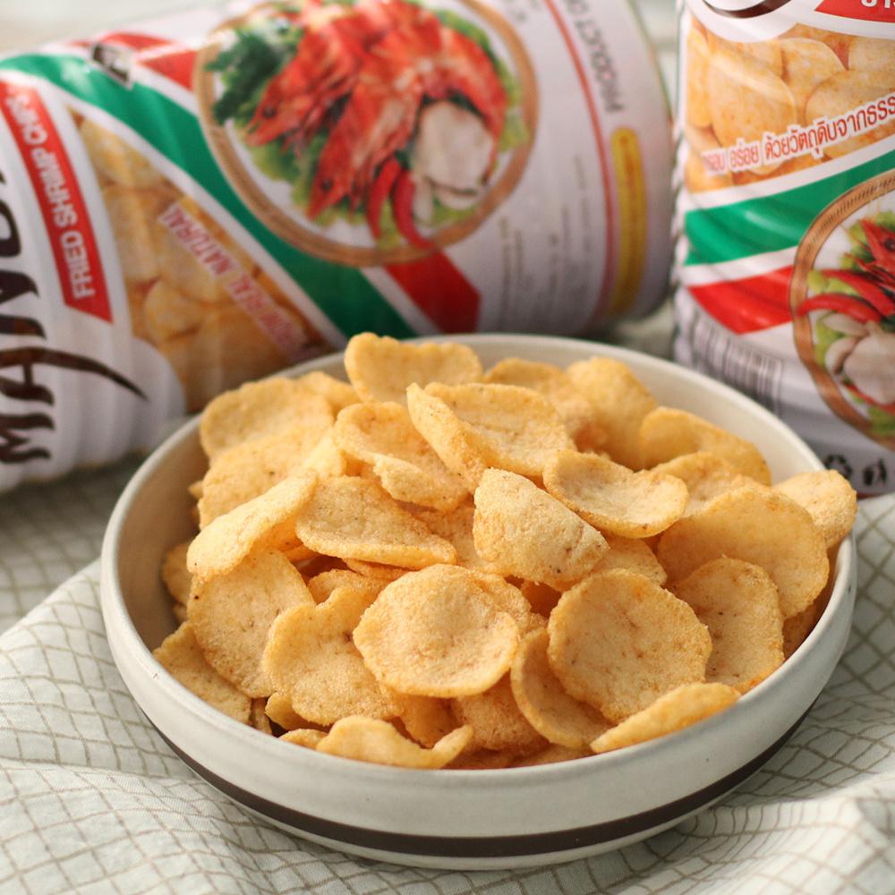 泰国进口零食/特产休闲食品玛努拉虾片/MANORA膨化食品100g新包装