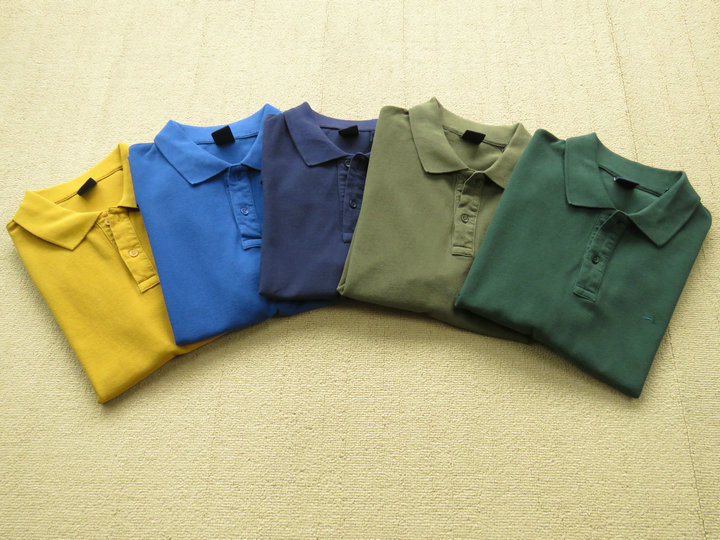 100%COTTON SLIM FIT SOLID POLO 男款翻领T恤衫 五色入 195401