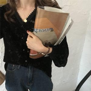 im向自制2020春装新款韩版女蕾丝衫