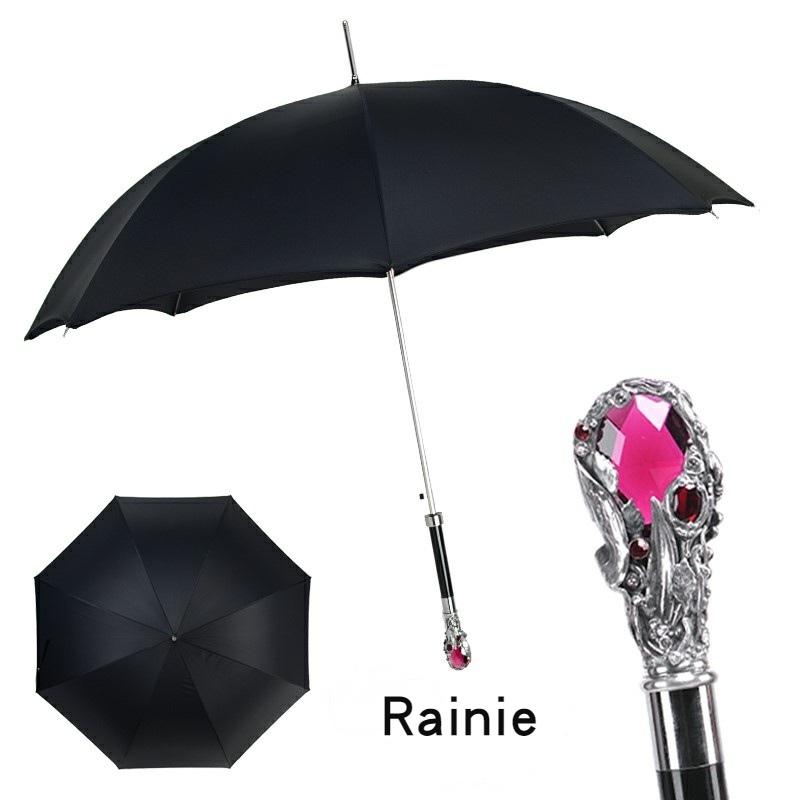 Rainie雷尼狮头直柄高尔夫男士雨伞长柄防晒超大半自动礼品雨之蓝