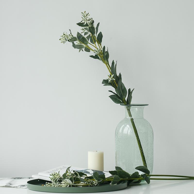 薇薇卡绿色植物 仿真绿植假花绢花高杆 客厅装饰花插花