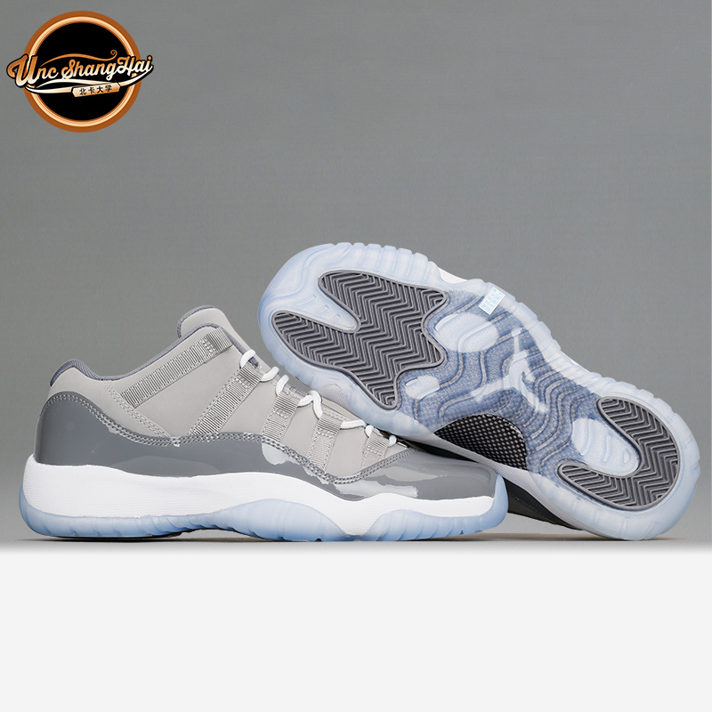 北卡大学 Air Jordan 11 Low Cool Grey AJ11酷灰低帮 528895-003