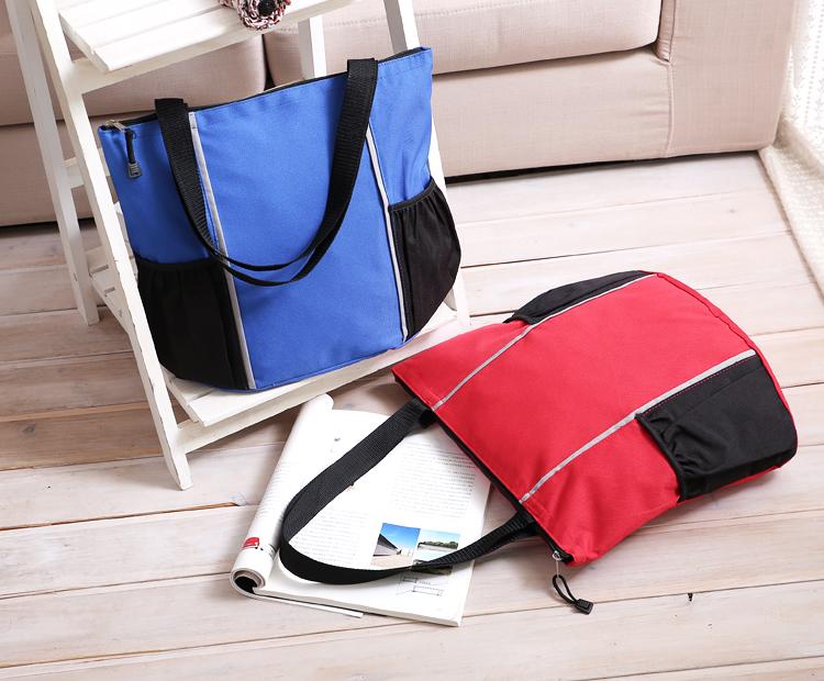 帶拉鏈 大號 防水 純色 無印刷 購物包袋 單肩包媽咪袋購物袋跨包