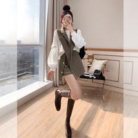 查看炸街时尚套装短裤小个子显高2021新款春装女装马甲休闲卫衣三件套价格