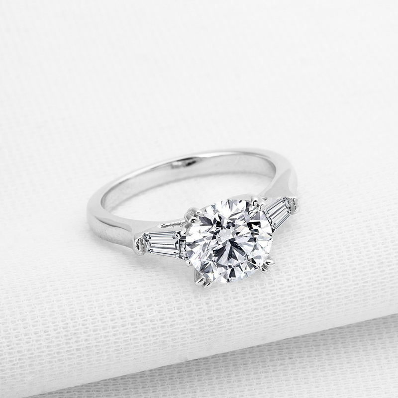 925 Sterling Silver womens diamond ring simple 2 carat heart ol ring Sona diamond engagement Sterling Silver Ring