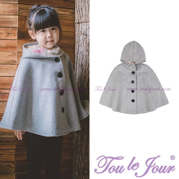 Toulejour новая девушка ребятишки в моделье темперамент пальто пальто свободный западный стиль шерсть плащ плащ шаль