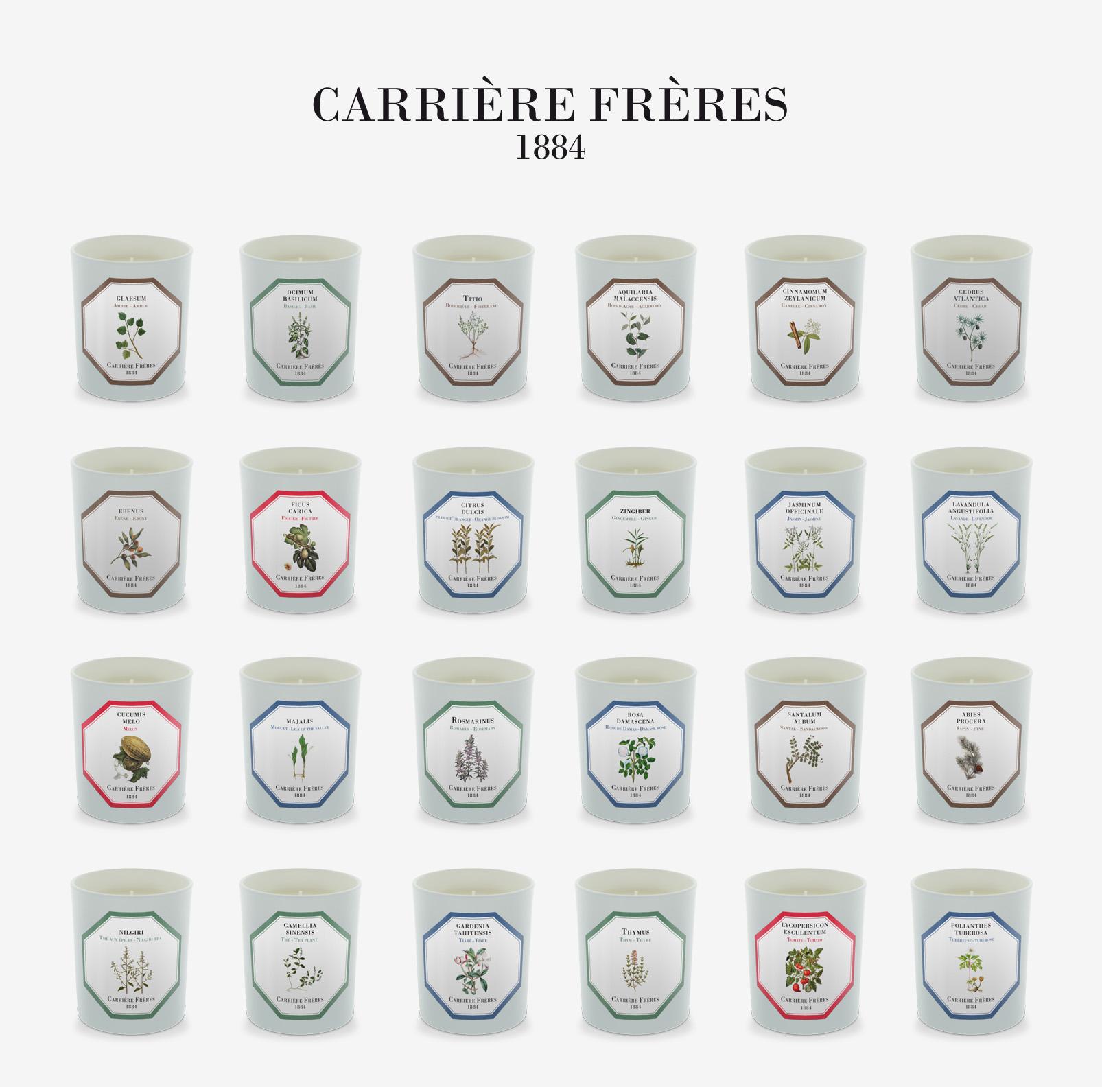 全系列1884FreresCarriere授权法国植物学家香氛香薰蜡烛现货