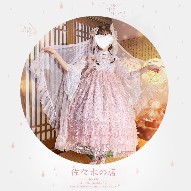 原创中华风汉元素lo裙日常重工花嫁洛丽塔洋装lolita公主正版全套手慢无