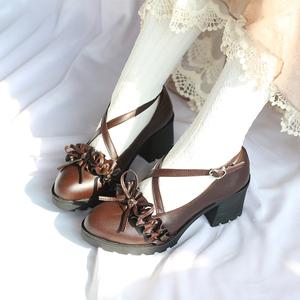 春日lolita高跟原创梅露露lo小皮鞋
