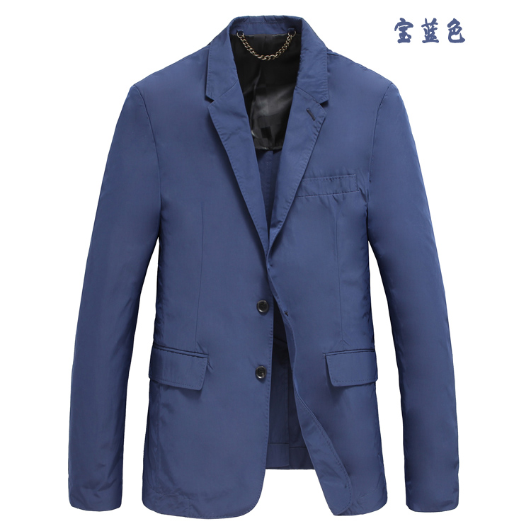 Break size special price mens thin suit polyester fiber soft and comfortable single layer leisure British mens wrinkle resistant coat