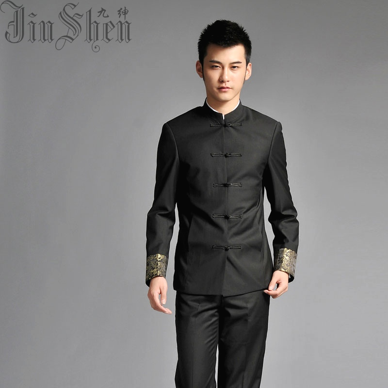 professional website official store agreatvarietyofmodels Nine men gentry costume suit Chinese collar Slim Korean men's tunic groom  Chinese wedding dress