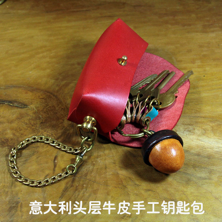 New hand made creative key bag hanging bag red change car key mens and womens lovers gifts