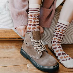 堆堆袜女秋冬韩国网红袜子女中筒袜ins潮日系学院风纯棉长筒袜女