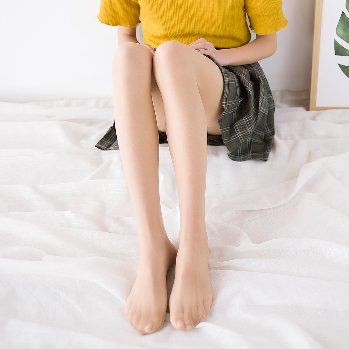 纯色透肉薄款光腿神器任意剪防勾丝
